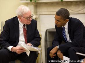 President Obama met Wednesday with billionaire Warren Buffett at the White House.