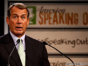 House Minority Leader John Boehner said Friday he supports a ban on all new federal regulations.