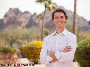 Ben Quayle won a ten-candidate race for the Republican nomination in Arizona's third congressional district on Tuesday.