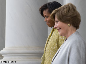 First lady Michelle Obama and former first lady Laura Bush will both participate in a September 11 memorial.