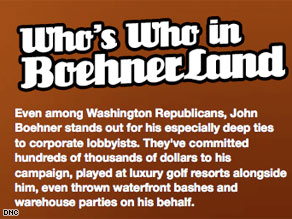 The DNC launched a web site targeting House Minority Leader John Boehner Wednesday.