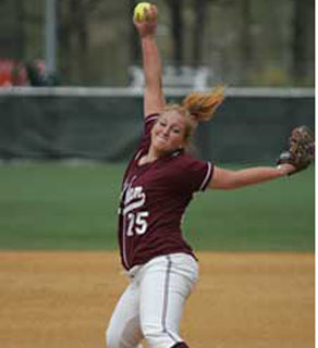 Nicole Ayres was a pitcher at the university and was named rookie of the year in 2007, the school said. (Photo credit: Fordham University/www.fordham.edu)
