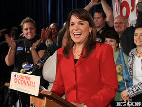 Christine O'Donnell's campaign said it raised $850,000 in the first 24 hours after her Delaware GOP primary victory.'