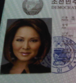 A glimpse of part of Alina Cho's North Korean visa. She will report live from Pyongyang for CNN on Sunday and Monday.