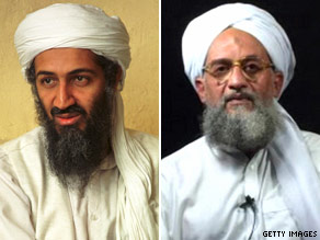 Osama bin Laden (L) and Ayman al-Zawahiri (R).