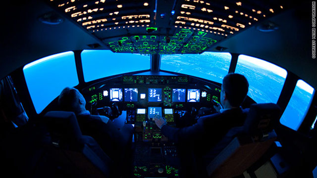 Simulator pilots test technology aimed at making flying safer and more efficient at MITRE Corporation outside Washington.