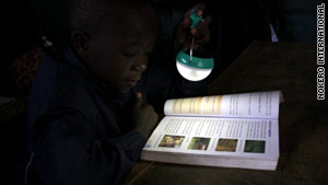 Communities that do not have access to electricity could benefit from Katsaros' solar light bulbs.