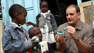 "Katsaros sells ""business in a box"" kits that entrepreneurs in Kenya and Tanzania can sell to villages at a profit."