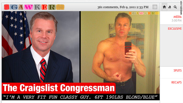 Craigslist Fail - Rep. Christopher Lee resigns amid reports that he tried to meet women on Craigslist
