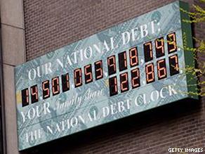 The National Debt Clock pictured in Manhattan last week.