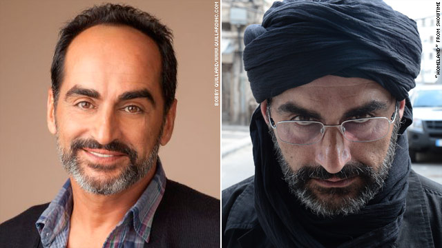 "Actor Navid Negahban in his role as an Iranian terrorist on the TV show ""Homeland"" (source: CNN)"