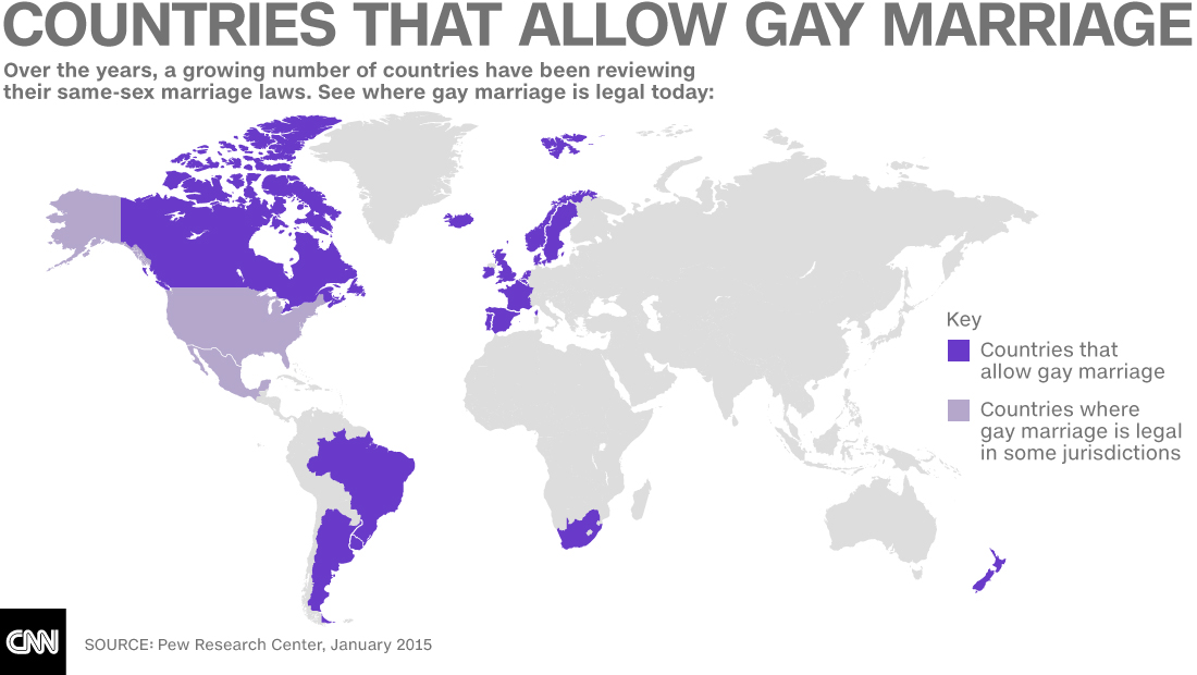Countries with same sex marriage