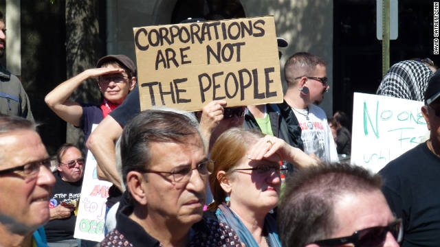 Occupy Wall Street protesters demonstrating in Freedom Plaza in Washington D.C. this week