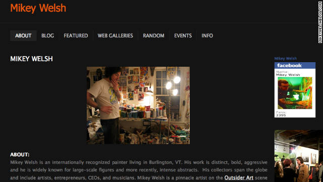 Mikey Welsh is shown in view taken from his blog.