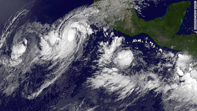 Hurricane Jova was about 260 miles southwest of Manzanillo, Mexico, early Monday, moving at about 8 mph an hour.