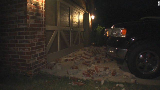 Several homes in Oklahoma were damaged after a strong earthquake struck late Saturday near Sparks, Oklahoma.