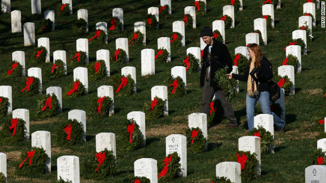 For the 20th year, Wreaths Across America is laying holiday wreaths on headstones at Arlington and in 500 other cemeteries throughout the United States and overseas.