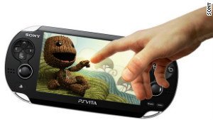 Sony\'s PlayStation Vita handheld gaming device.