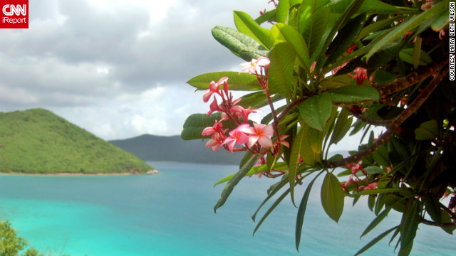 """<br/>The British and U.S. Virgin Islands offer crystal blue waters and beautifully serene escapes. iReporters shared their favorite photos of paradise with us. Mary Beth Wilson captured this gorgeous view of St. John, looking toward the British Virgin Islands. """"St. John is our island paradise."""""""