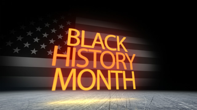 History Black Month Powerpoint Template