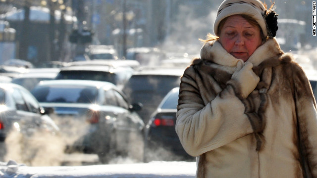 <br/>In the Ukrainian capital of Kiev, temperatures dropped to -22 degrees Celsius (-8 degrees Fahrenheit) on Wednesday, February 1. The cold temperatures were blamed for at least 31 deaths in the country.