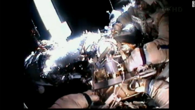 Spacewalking like 'giving birth to yourself'