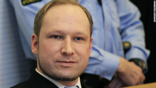 Anders Behring Breivik pictured in court in Oslo in February.
