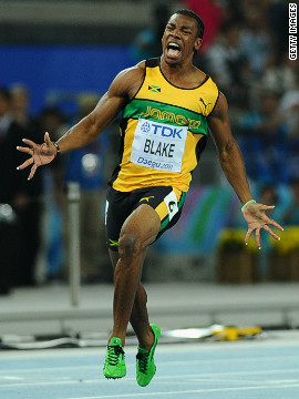 Jamaican sprinter Yohan Blake announced himself as an Olympic contender when he won gold in the 100 meters final at the 2011 World Athletics Championships in South Korea.