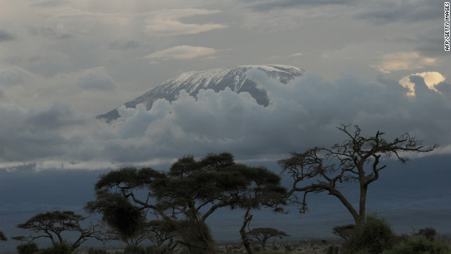 The famed snows of Mt. Kilimanjaro, actually glaciers, are retreating rapidly. Many scientists blame global warming.