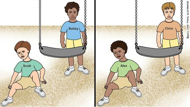 These pictures were shown to 6-year-olds for the AC360° study on children and race.