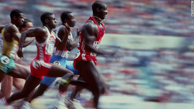 The story of 100 meters final at the 1988 Olympics