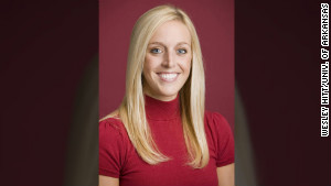 Jessica Dorrell, a 25-year-old member of his staff, was on Petrino\'s motorcycle with him when it crashed .