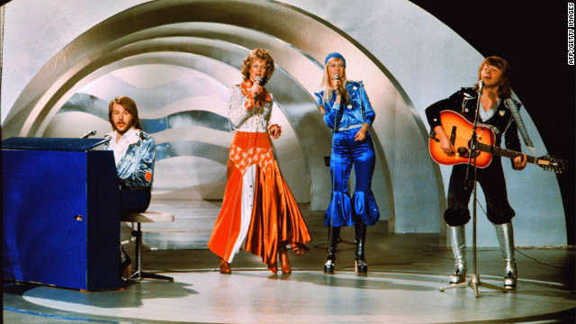 "The Swedish pop group ABBA performs the hit ""Waterloo"" at Eurovision 1974, held in Brighton in the UK. The group's victory inspired a long-lasting Swedish love affair with the competition -- and the annual ""Melodifestivalen"" national song contest through which the Swedish Eurovision entry is chosen."