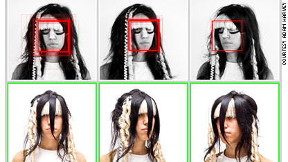 Face detection prevention fashion.