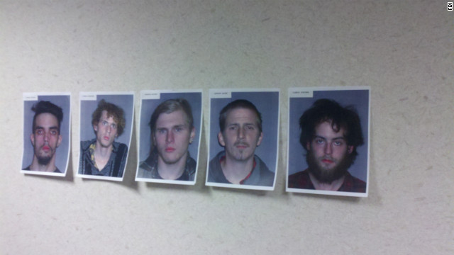 The FBI released photos of five men who allegedly plotted to blow up a bridge in Ohio.