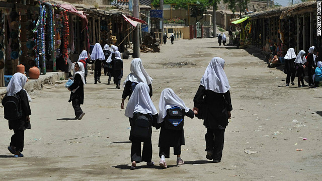 Girls were forbidden to go to school when the Taliban ruled the country from 1996 to 2001. (File photo)
