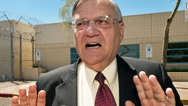 Maricopa County Sheriff Joe Arpaio said the punishment is for defacing American flags in the cells.