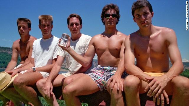 From left to right: John Wardlaw, Mark Rumer, Dallas Burney, John Molony and John Dickson in 1987.
