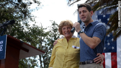 Ryan highlights mom in attacking Obama