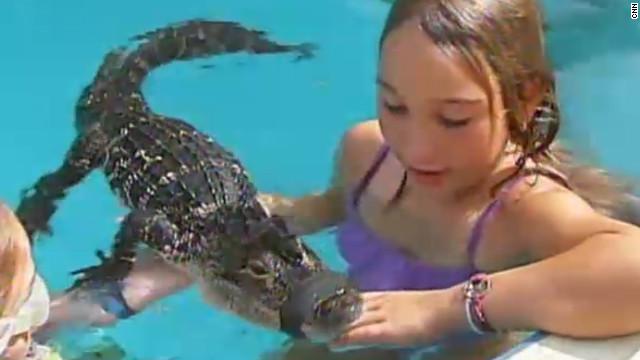 """Un hombre organiza fiestas """"salvajes"""" para niños con caimanes en la piscina"""