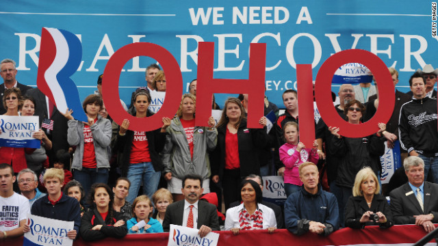 GOP presidential hopeful Mitt Romney will campaign on Wednesday in Ohio, where he trails President Barack Obama in polls.