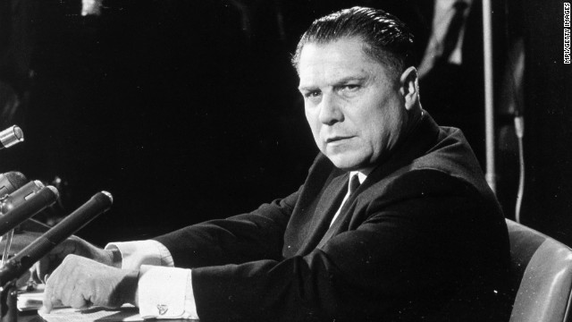 Police will drill beneath a Michigan home Friday in the search for disappeared Teamsters boss Jimmy Hoffa, seen here in 1960.