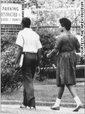 August 30, 1961: Thomas Welch and Madelyn Nix are the first African-Americans to attend Atlanta's Brown High School.