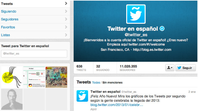 El español ya es la segunda lengua más usada en Twitter