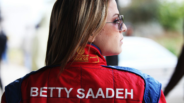 Betty Saadeh, from Bethlehem, joined the Speed Sisters in 2010 and was the fastest woman on the Palestinian circuit in 2011. Both her father and brother also race cars.