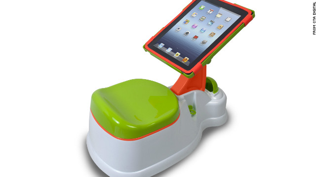 Behold, the iPotty. Yep, it's pretty much what you think it is.
