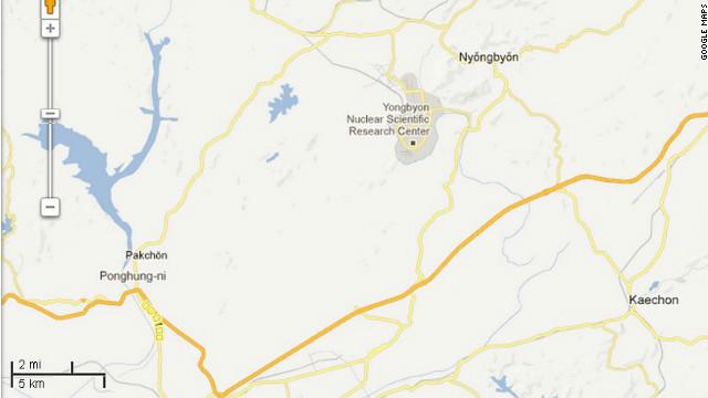 Map: Yongbyon Nuclear Center