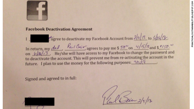 Dad Pays Daughter 200 To Quit Facebook Am 1310 The Light