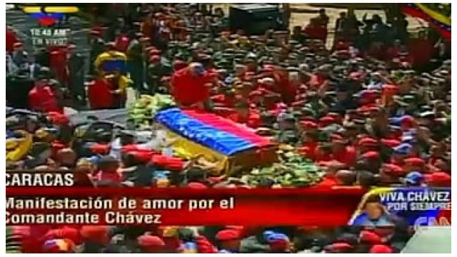 Comienzan los actos fúnebres en honor a Hugo Chávez