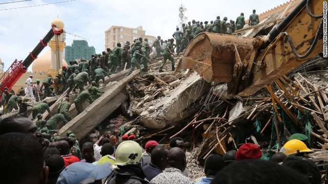 The 16-story building left more than 60 people trapped in the rubble when it collapsed.